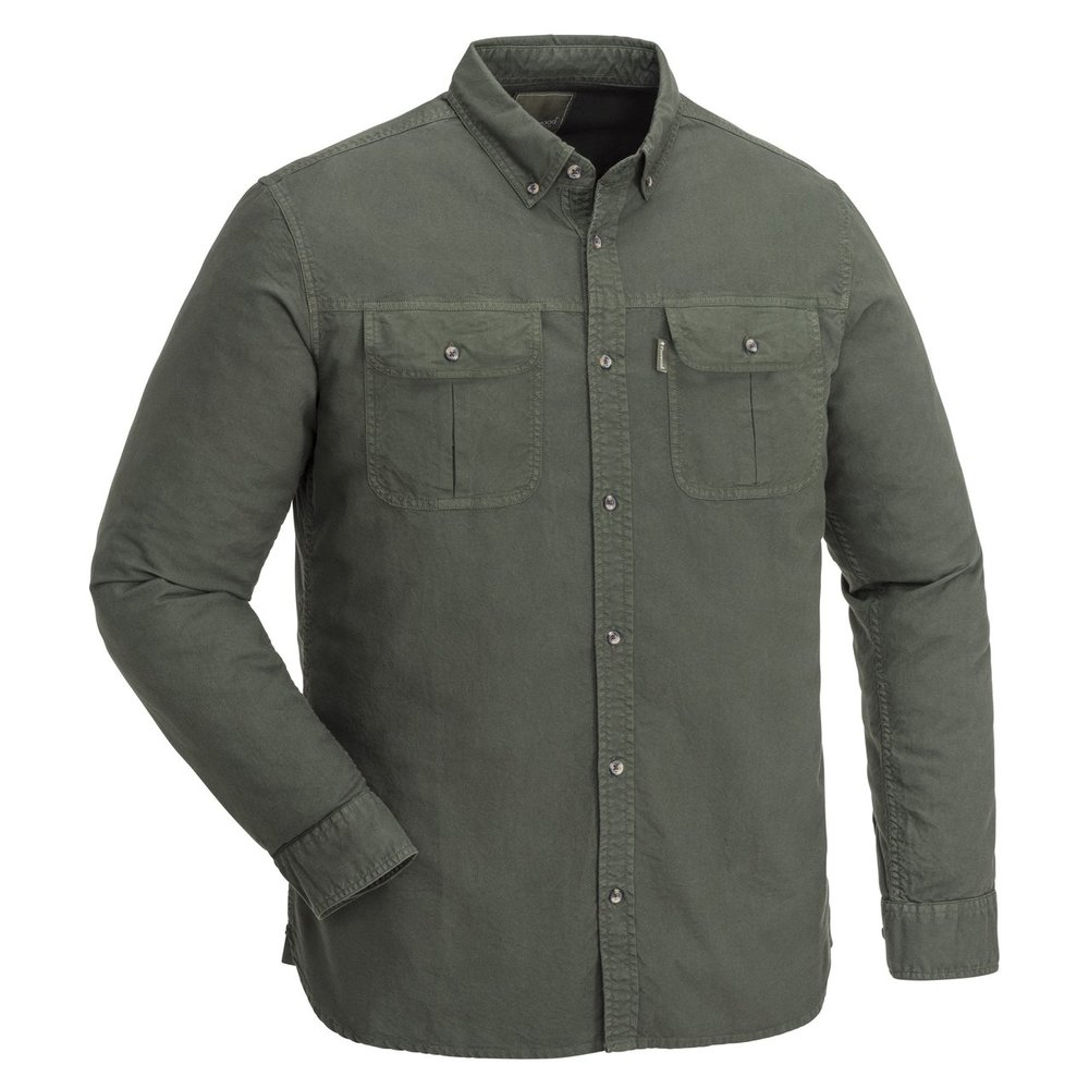 Värnamo Oxford Shirt Pinewood - Mossgrön *