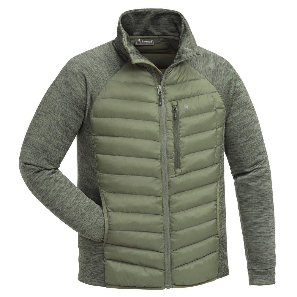 Abisko Hybrid Power Fleece Jacka Pinewood - Clover Green/M. Grön *