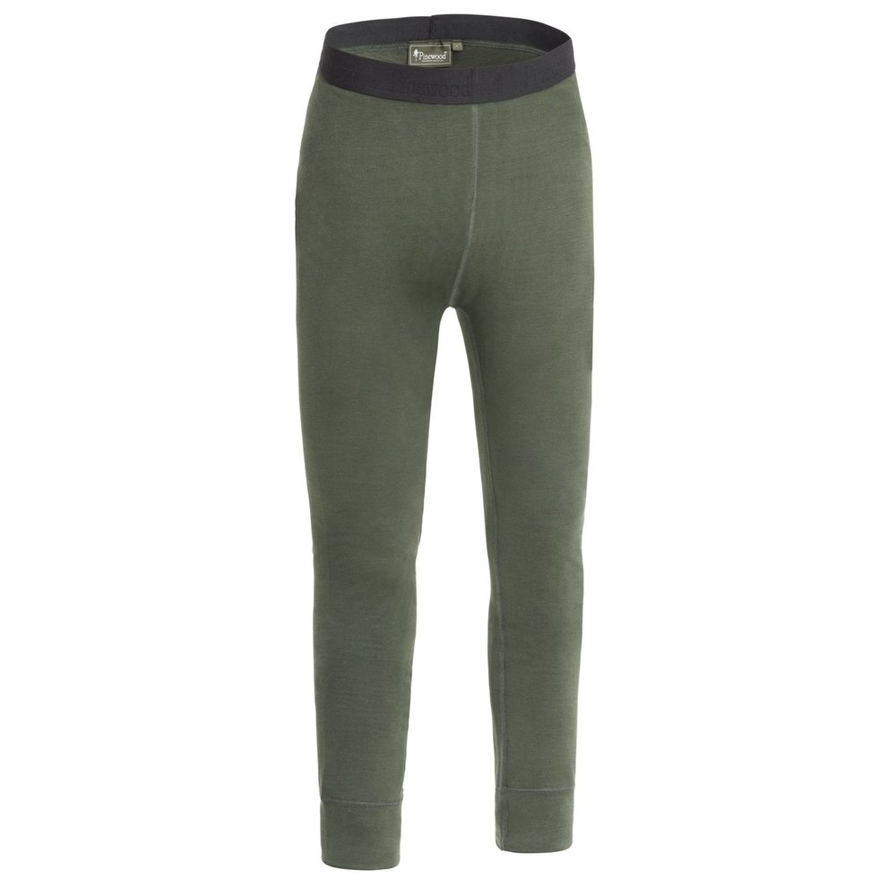 Abisko Merino Base Layer Pants Dam Pinewood - Mörk Mossgrön *