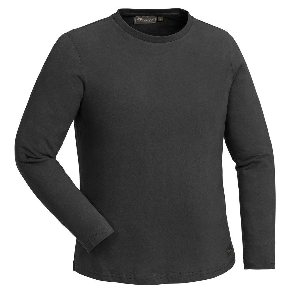 Peached L/S T-Shirt Pinewood Dam - Röksvart *