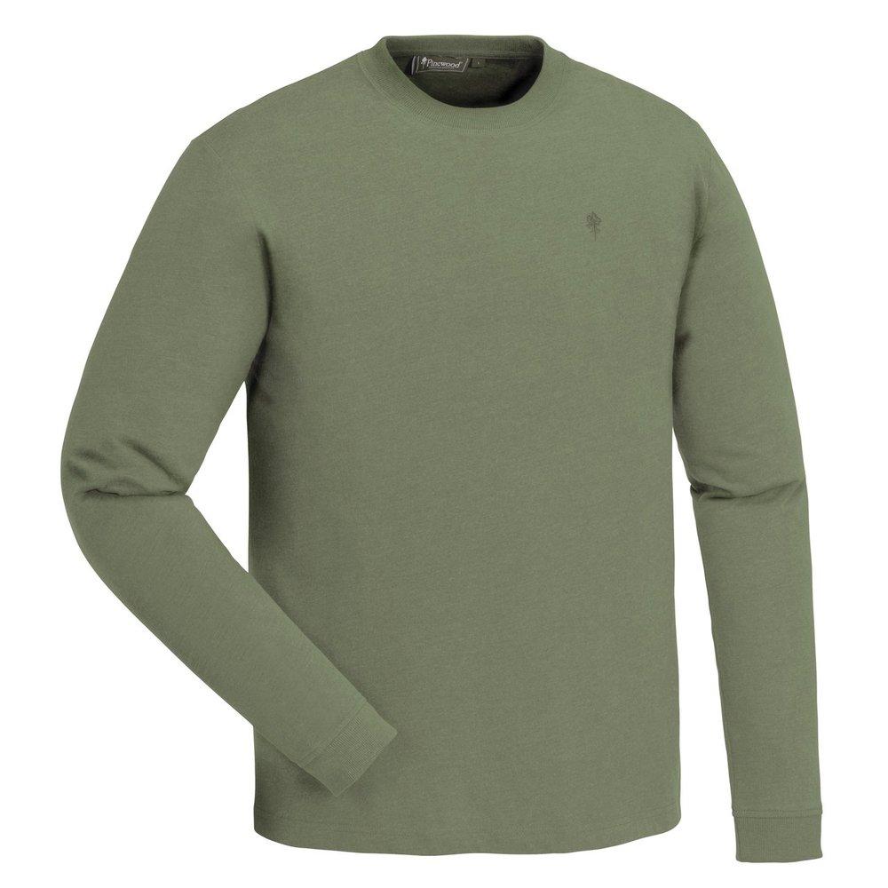 Peached L/S T-Shirt Pinewood - Mellangrön *