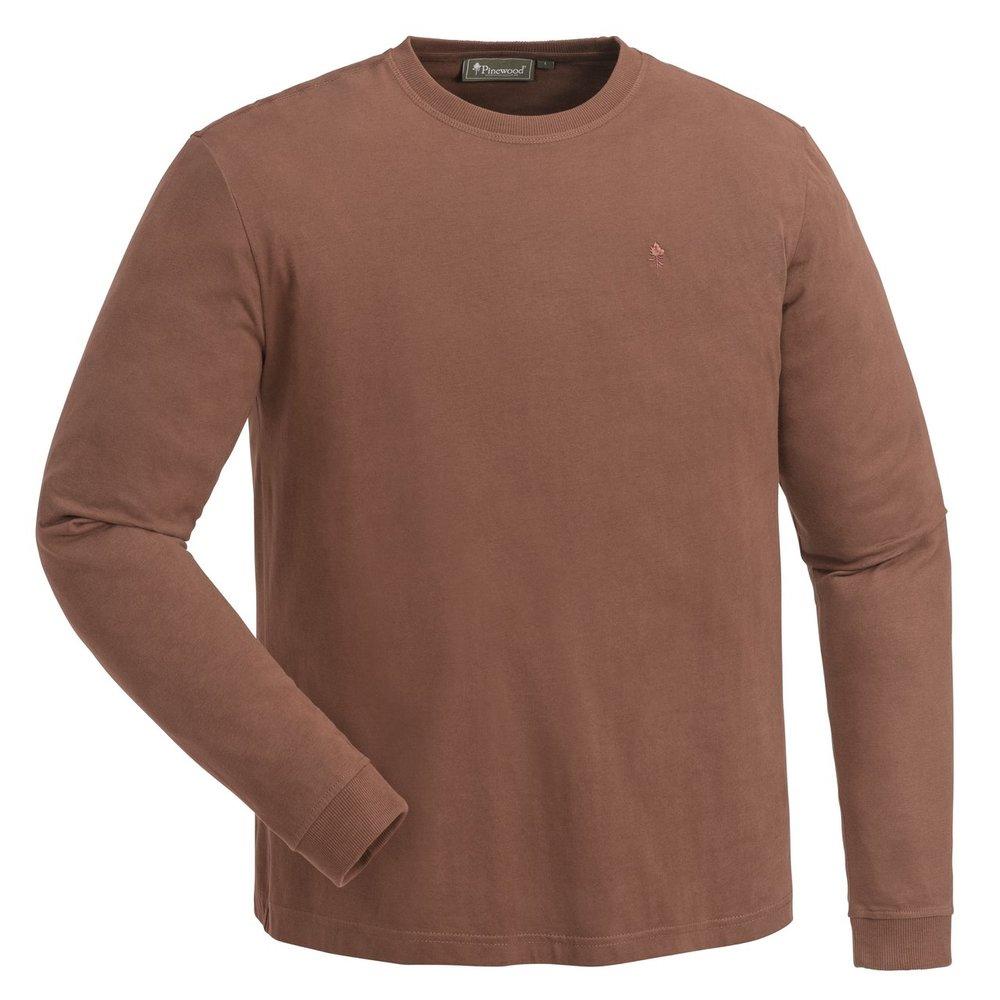 Peached L/S T-Shirt Pinewood - Mörk Koppar *