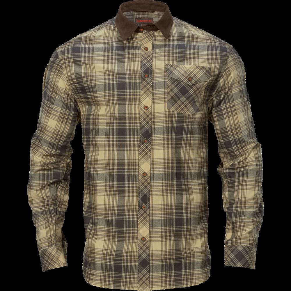 Driven Hunt flannel skjorta Härkila - Light Teak Check