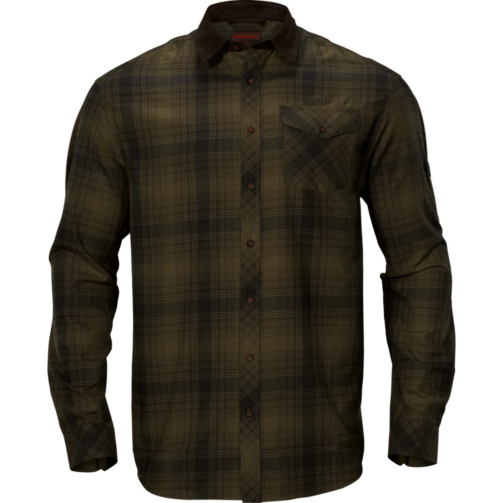 Driven Hunt flannel skjorta Härkila - Olive Green Check