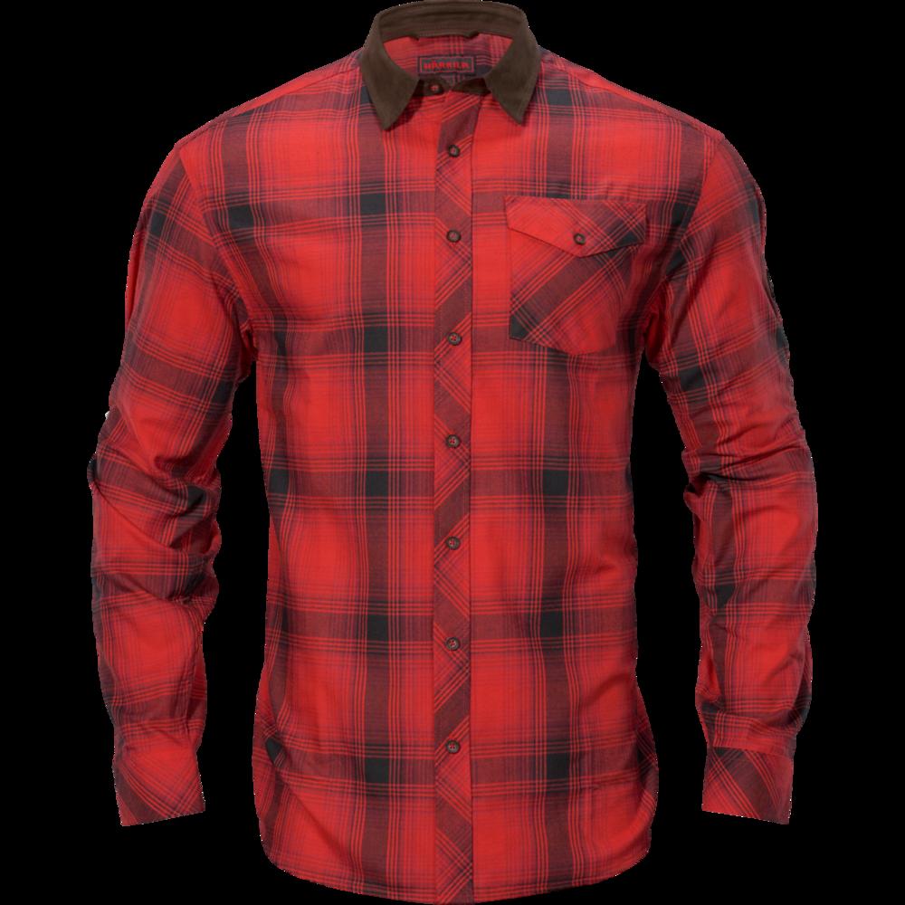 Driven Hunt flannel skjorta Härkila - Red/Black check