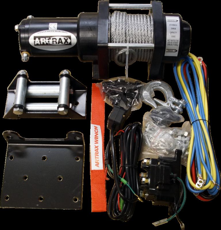 Black Wolf Artrax Vinschpaket 2.5 Steel ATV