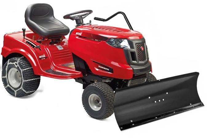 MTD Smart RF 125 Traktor med snöblad och broddade kedjor