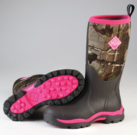 Muck Womans Woody Stövel - Camo/Rosa