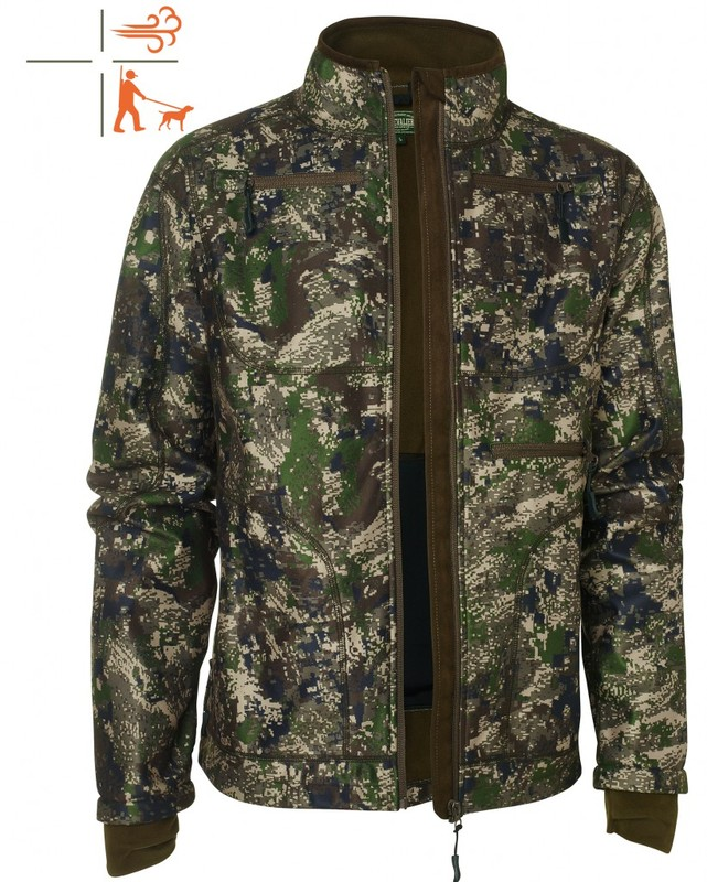 Pixel Camo Windblocker Coat Chevalier