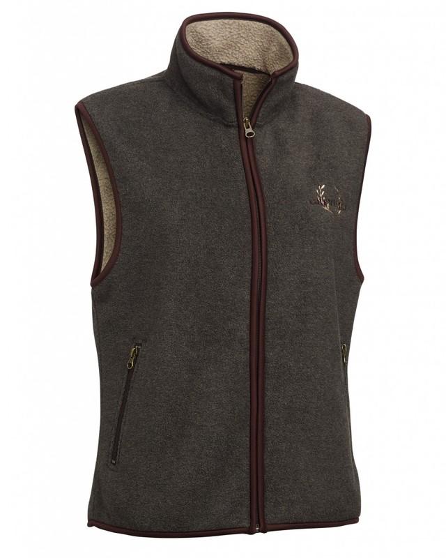 Mainstone Fleece Waistcoat Dam Chevalier - Grey
