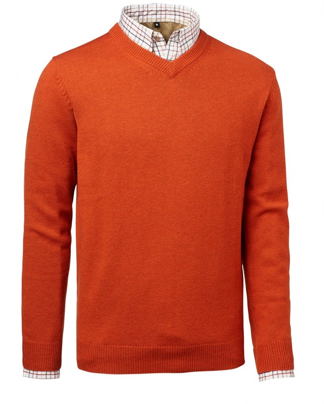 Gary Wool Pullover Chevalier - Orange