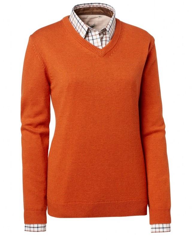 Gaby Wool Pullover Chevalier - Orange
