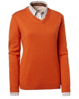 Gaby Wool Pullover Chevalier - Orange