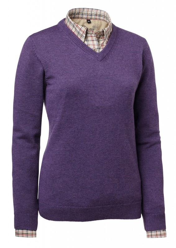Gaby Wool Pullover Chevalier - Lila