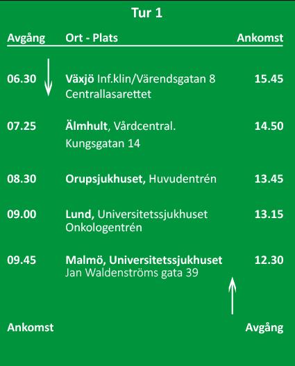 Linnean Växjö-Malmö tur 1