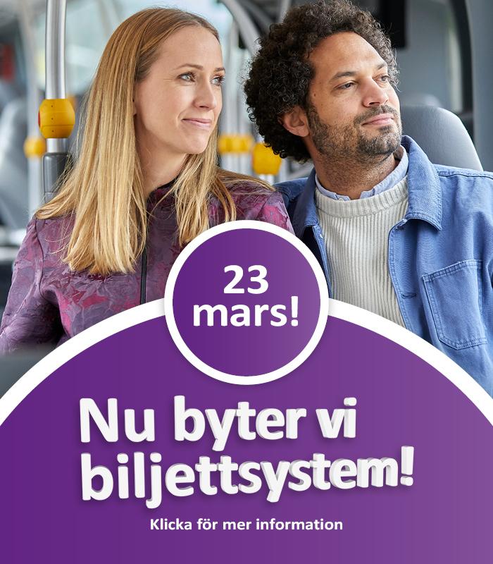 23 mars byter vi biljettsystem. Klicka för mer information