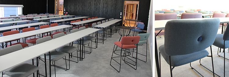 Foto på mötesrum Celsius med bänkar och stolar.