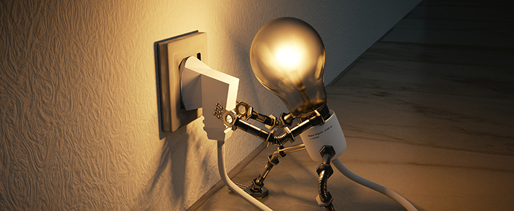 Foto på en glödlampegubbe.