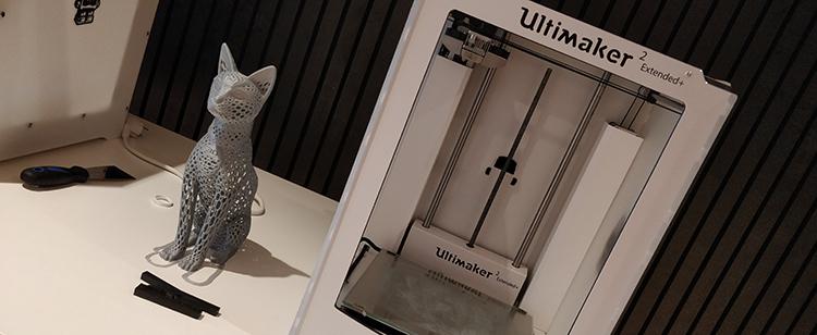 Foto på 3D-printad katt.