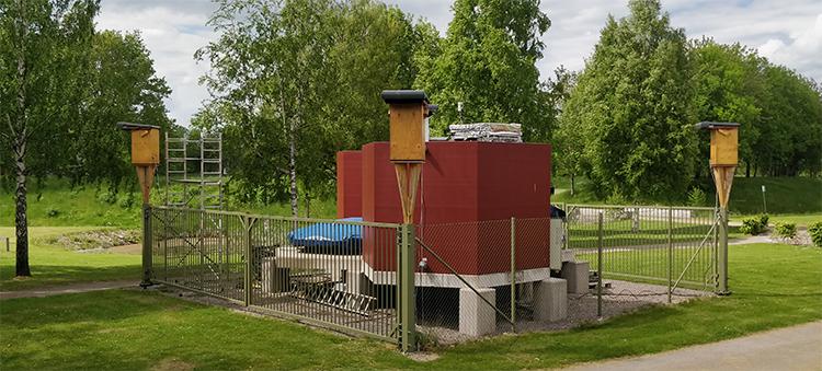 Prototypen till partikeldetektor på Linnéuniversitetet.