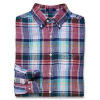 Linen Plaid Shirt Regular