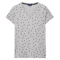 Dotted Fluid V-neck T-Shirt