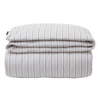 Beige Striped Sateen