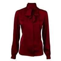 Silk Blouse With Bow Collar