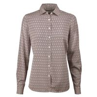Patterned Silk Shirt
