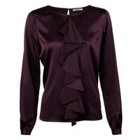 Silk Blouse With Frill