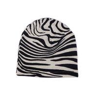 Zebra Patterned Silk & Cashmere Hat