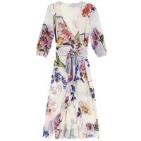 Printed Mesh Dress