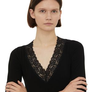 Lace Trimmed T-shirt