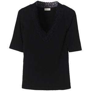 Lace Trimmed T-shirt