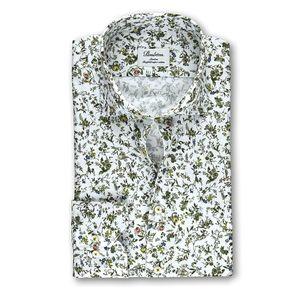 White Floral Slimline Shirt