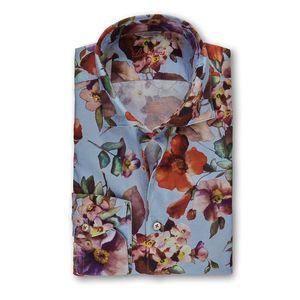Flower Patterned Slimline Shirt