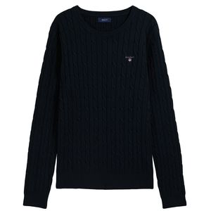 Bild 2 av Stretch Cotton Cable Crew Sweater