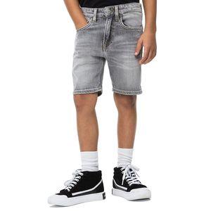 Tapered Denim Shorts