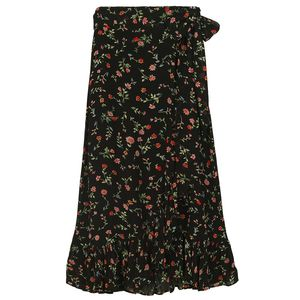Printed Georgette Wrap Skirt