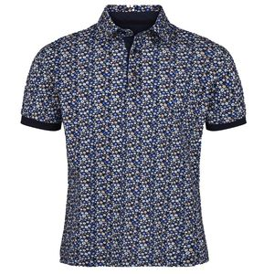 Floral Denton Polo Shirt