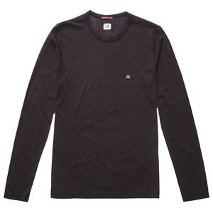 Garment Dyed Makò Jersey Long Sleeve Crew T-Shirt