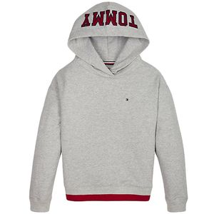 Colour-Blocked Hem Logo Hoody