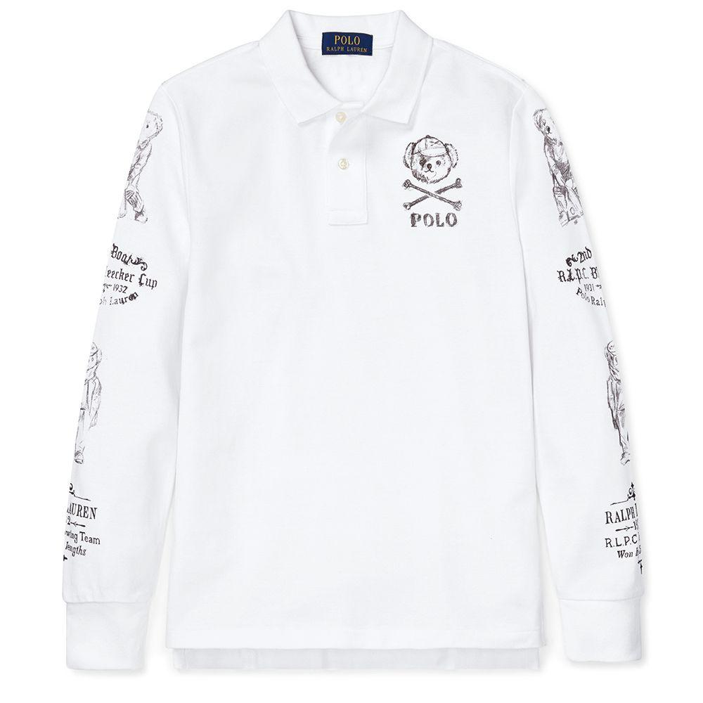 Bild 1 av  Bear Cotton Mesh Polo Shirt