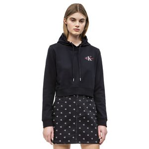 Cropped Embroidered Hoodie