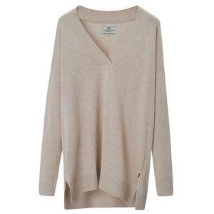 Ana Cotton Bamboo V-neck Sweater