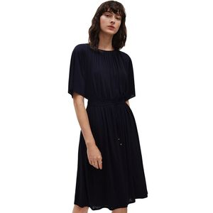 Gathered Tie Waist Dress