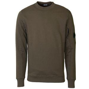 Diagonal Fleece Lens Crew Sweatshirt