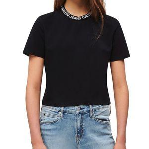 Cropped Logo Collar T-shirt
