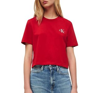 Cropped Embroidered T-shirt