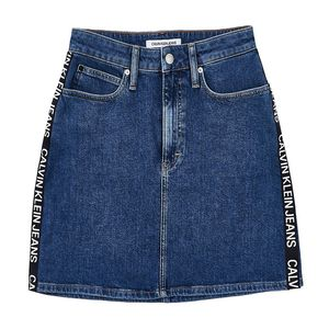 Bild 4 av High Rise Denim Mini Skirt